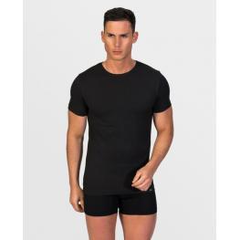 Impetus Hombre Camiseta M/corta C/r Cotton Stretch Negro T.M