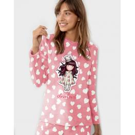 Santoro Pijama Mujer 54423-0 M/l Pelo Frambuesa T.S