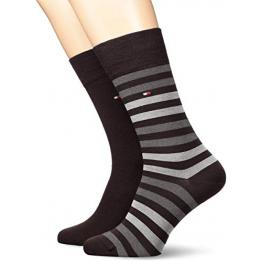 Tommy Hilfiger Calcetin Pack2 Stripe 472001001 200 039 Negro/rallas T.39/42