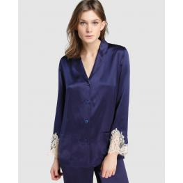 Lise Charmel Camisa Seda Alc3480 Splendeur Azul M. T.L