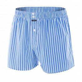 Impetus 2040F69 Boxer Tela 100%algodón C.Rallas Azules T.L