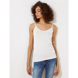 Levante Camiseta Tirante Fino Modal 3F06 Blanco T.Xl
