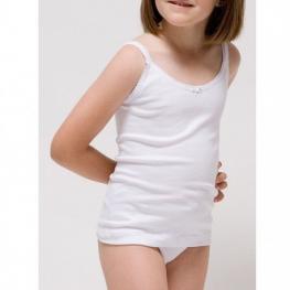 Rapife Camiseta Niña Tirantes Blanca 2305 T.6