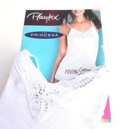 Playtex/princesa Camiseta Tirante Fino Basic Mila  P4754 P1 Ao Blanco T.M/40