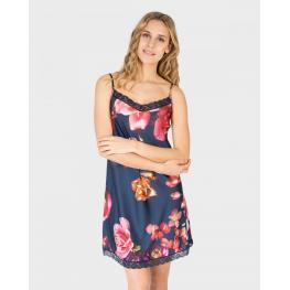 Massana Camisola Mujer Tirantes L687242 Marino/flores T.M