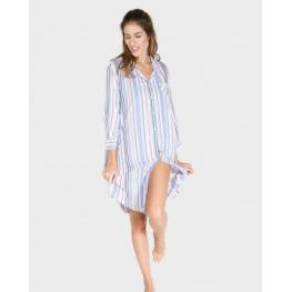 Massana Camisola Mujer Abierta M/francesa  L197225 Rayas T.Xxl