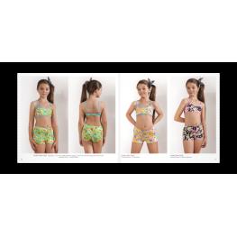 Anai Bikini Niña  Mod. Flor  C.Marino/flores T.4