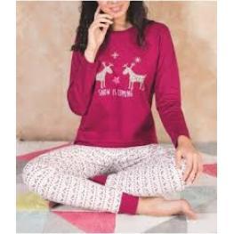 Marie Claire Pijama Mujer M/l 96983 Burdeos T.L