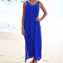 Pia Rossini Vestido Largo Casablanca Azul T.S/m