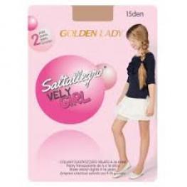 Golden Lady Panty Niña 2 Pares 12J Ja 15Den Saltallegro Very Girl Color Melón T. 12/16