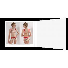 Anahi Bikini Niña  Mod.Sara  C.Naranja T.12