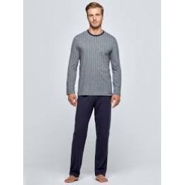 Impetus Pijama Hombre 4568F64 M/l 100% Algodón  Gris T-M