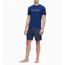 Calvin  Klein   Pijama  Hombre  P/c M/c Azul  T.L 000Nm1746Epbd