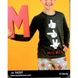 Disney Pijama Niño P/l M/l 54297-0 Marengo Jaspe/manos  T.16