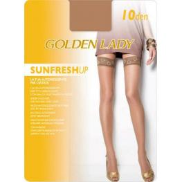 Golden Lady Medias Liga 80Q Qa Autoreggente Per L'Estate Sunfresh Up Color Dakar T. L