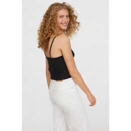 Levante Camiseta Tirante Fino Modal 3F06 Negro T.Xl