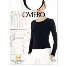 Omero Camiseta M/l Cuello Redondo Microfibra Granate  T.S/m