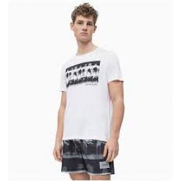 Calvin Klein Camiseta Hombre M/c Km0Km00320  C.Bl/palmeras T.M