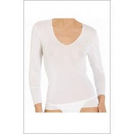 Teres Isaura Camiseta Manga Larga C. Blanco T. Xl