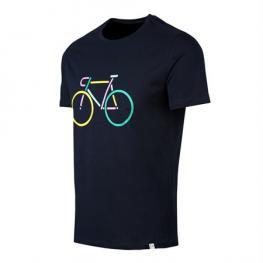 John Frank Camiseta M/c  100% Cotton  Jftef10-Bike  Negra T.L