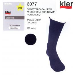 Kler  Calcetin  Micro  Fibra  P.Liso  Tacto  Seda  6065  T.U  Negro