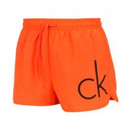Calvin Klein Bañador Hombre Short Drawst Km0Km00161 Naranja T.Xl