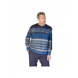 Massana Pijama Hombre M/l 100%algodón  P691323 Marino T.L