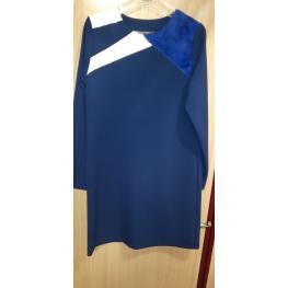 Señoretta  Sistter Vestido M/l 192301 Azul T.40