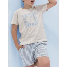 Aznar Innova Pijama Niño M/c  50689 Beige T.8