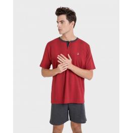 Massana Pijama Hombre M/c P201307   C.Rojo T.Xl