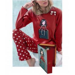 Santoro Pijama Libro My Story 50794-0 Niña Rojo T.14