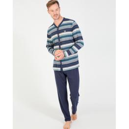 Massana Pijama Hombre M/l P/l  Abierto P181329  Rayas T.L