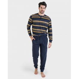 Massana Pijama Hombre M/l  100%algodón  P691330  Oliva  T.M