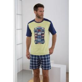 Massana Homewear Pijama Hombre P171322 Manga Corta Pantalón Corto Lima  T. S