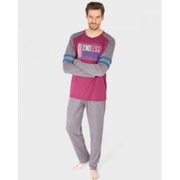 Massana Pijama Hombre P681306 M/l  Granate   T.M