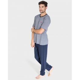 Massana Pijama Hombre Verano M/c Pant. Largo P191348  Marino Vigoré T.Xl