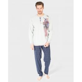 Massana Pijama Hombre P681326 M/l  Vigoré Gris T.3Xl
