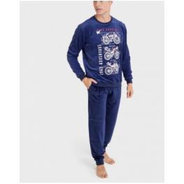 Massana Pijama Hombre M/l P701306  C.Azul Medio  T.L