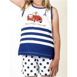 Admas Pijama Mujer  Nina S/m 50949 Coche/marino T.M