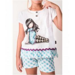 Santoro Pijama  Niña M/c 50970 Bl/az T.10