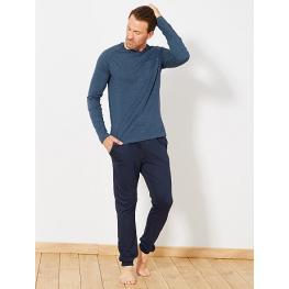 Privata Pijama Hombre M/l Puño Prp140 Azul T.L