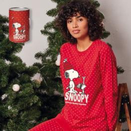 Gisela Pijama Mujer M/l  Snoopy  Cubo 2/1747 Rojo T.S
