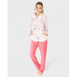 Massana Pijama Mujer Cremallera P681239 Rosado T.Xxl