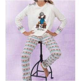 Santoro Pijama Mujer Invierno 54410-0 Beige/ardillas T.Md