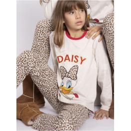 Disney Pijama Niña Invierno Daisy Duck P/l M/l 54385-0 Beige/leopard T.14 Años