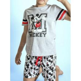 Disney Pijama Niño M/c 50533 Mikey Gris T.8