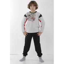 Massana Pijama Niño P671139 Gris Perla T.12