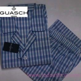 Guash Hombre Pijama P/c M/c Algodon En Tela C.Gris T.6/xl