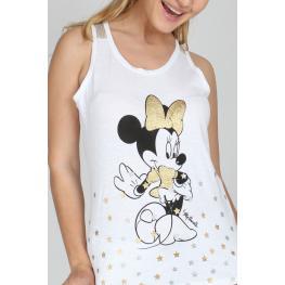 Disney Camisón Niña Tirantes Minnie 51384  Blanco T.10