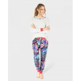 Massana Pijama  Mujer M/l  L681212 Gris Love T.M
